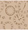 time background clocks on beige background vector image vector image