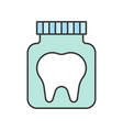 tooth in bottle dental related icon filled outline vector image vector image