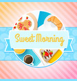 traditional breakfast concept vector image vector image