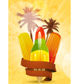 tropical ice lollies vector image vector image