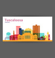 tuscaloosa city architecture silhouette colorful vector image
