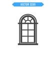 window flat icon vector image