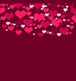 with love hearts vector image vector image