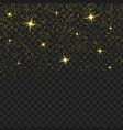 yellow transparent glitter texture shiny glam vector image