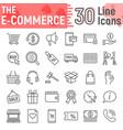e commerce line icon set online store symbols vector image