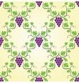 seamless grape pattern vector image