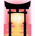 japanese tori gate sunset vector image