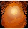 Moonlight Halloween background vector image