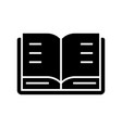 book open icon black sign on vector image