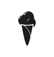 ice cream ball in waffle cone isolated vector image