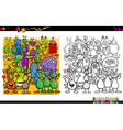 alien characters coloring book vector image vector image