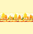 autumn city park panorama vector image vector image