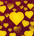 background gold hearts vector image