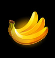 banana icon isolated on black background vector image vector image