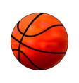 basketball ball simple flat orange gradient vector image vector image
