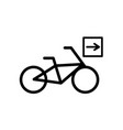 bike directions icon vector image
