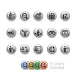 business opportunities - metal round series vector image vector image