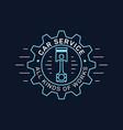 car service and repair badge design stock vector image vector image