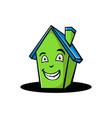 cartoon home smile vector image vector image