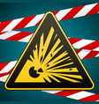caution - risk of explosion warning sign and vector image vector image