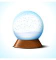 Christmas glass snow ball with snowflakes vector image