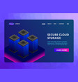 cloud storage isometric web template banner vector image