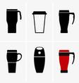 coffee travel mug vector image vector image