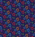 colorful abstract flowers dark seamless pattern vector image vector image