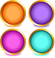 Colorful buttons with gold bevel-set2 vector image vector image