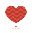 colorful ikat chevron heart silhouette pattern vector image vector image