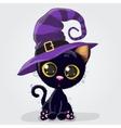 Cute Black Kitten vector image vector image