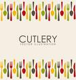 cutlery design vector image
