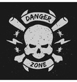 Danger zone emblem vector image vector image