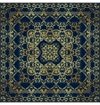 Dark blue bandanna with gold pattern vector image vector image