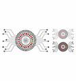 digital casino circuit composition icon inequal vector image vector image