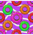 Donut with sprinkles seamless pattern