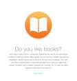 Ebook icon E-book symbol vector image vector image