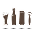 elements for beer emblems vector image vector image