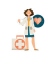 female doctor icon vector image