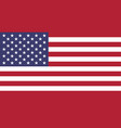 flag of usa in national colors vector image