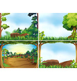 Forest scenes vector image vector image