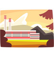 fossil fuel plant energy producing power station vector image vector image