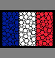 france flag collage of filled hexagon icons vector image