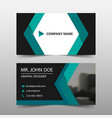 green abstract corporate business card name card vector image vector image