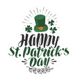 happy st patrick s day greeting card irish beer vector image vector image
