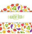 Healty food cartoon representing vector image vector image