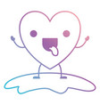 heart character kawaii funny expression in vector image
