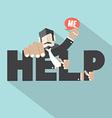 Help Me Typography Design vector image vector image