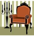 interior scene with armchair vector image