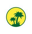island logo icon design concept vector image vector image